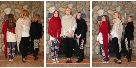 Three women wearing Cozmeenas