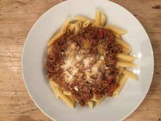 Spicy Beef Bolognese Sauce