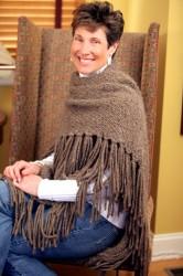 Lisa Luckett wearing Cozmeena Shawl